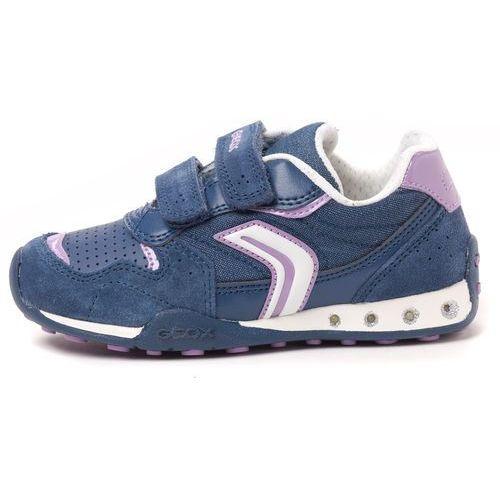 Geox tenisówki dziewczęce New Jocker 33 niebieski, kolor niebieski