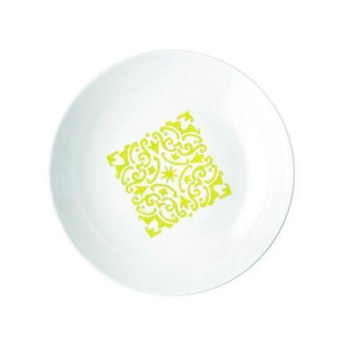 - tiffany - talerz głęboki le maioliche, żółty marki Guzzini