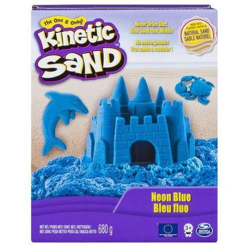 Piasek kinetyczny kinetic sand neonowy, niebieski marki Spin master