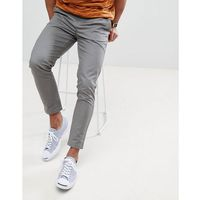 tapered chinos in grey - grey, Burton menswear