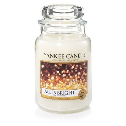 Yankee candle duża świeca zapachowa classic, 623 g, all is bright