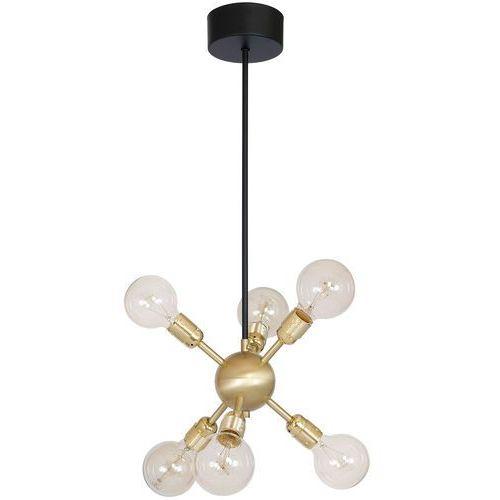 Lampa wisząca Luminex Magnus 6731 lampa sufitowa 6x60W E27 czarny / złoty