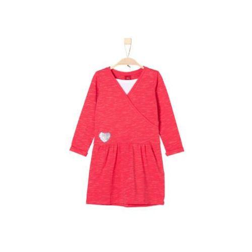 red label sukienka z dżerseju pink melange marki S.oliver