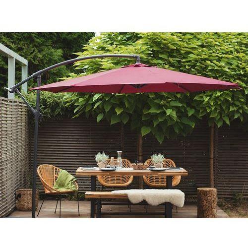 Parasol ogrodowy Ø300 cm burgundowy ravenna marki Beliani
