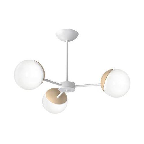Milagro sfera wood mlp5432 plafon lampa sufitowa 3x40w e14 biały mat / brązowy