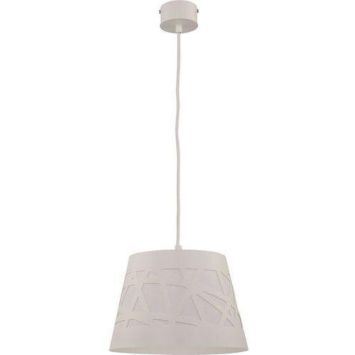Lampa wisząca stożek ażur m biała nad stolik marki Sigma