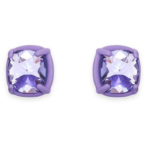 Swarovski Jewel-y McHue-y Small Pierced Earrings, purple matt varnish Violet Rhodium-plated (9009652987579)