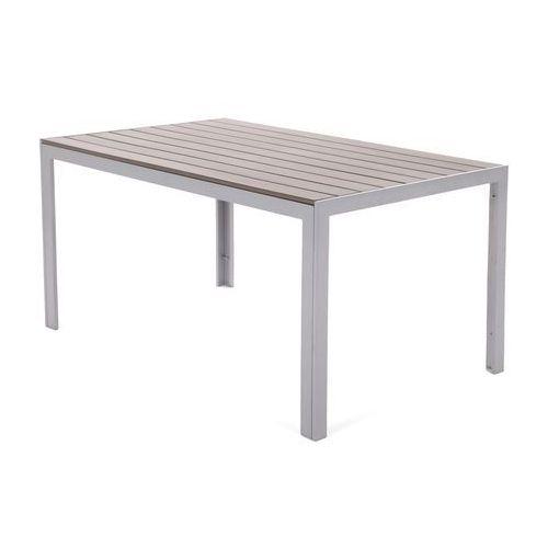 Stół ogrodowy aluminiowy ibiza silver / taupe marki Home&garden