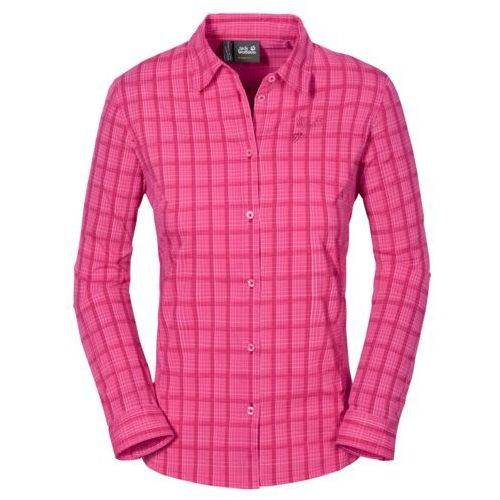 Jack wolfskin Koszula centaura flex shirt women - tropic pink checks
