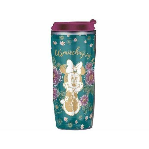 DISNEY Kubek / Bidon Minnie Flowers Green z wymienną dekoracją 400 ml 35260