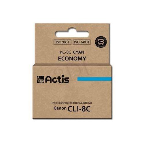 Tusz  kc-8c (do drukarki canon, zamiennik cli-8 standard 14ml cyan chip) marki Actis