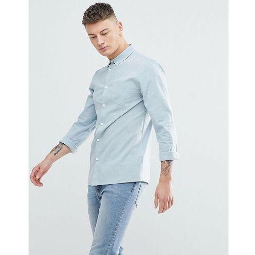 Another Influence Plain Chambrey Long Sleeve Shirt - Blue, w 5 rozmiarach