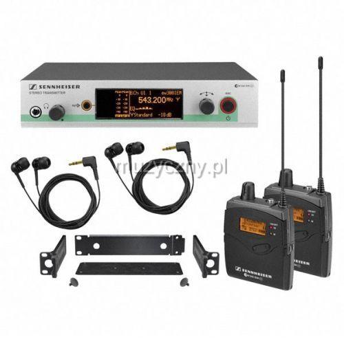 ew 300-2-iem g3 bezprzewodowy, osobisty system monitorowy z dwoma odbiornikami marki Sennheiser