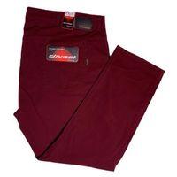 spodnie długie materiałowe bordowe model 547 118/34 bordo bawełna / lycra, Divest