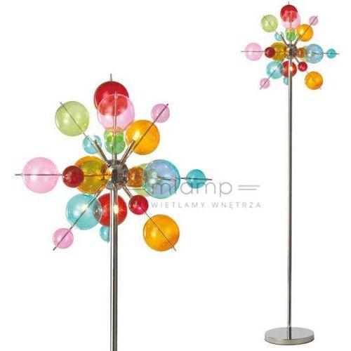 Nave Stojąca lampa podłogowa explosion 2027961 dekoracyjna oprawa kulki bubbles chrom multikolor