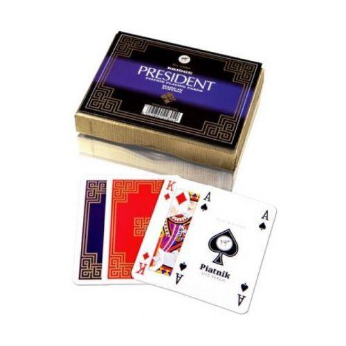 Piatnik Karty do gry 2 talie president