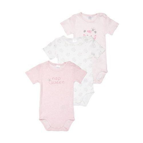 Kanz LAYETTE TIGER&LION 1/4 ARM BABY 3 PACK Body multicolored, kolor czerwony