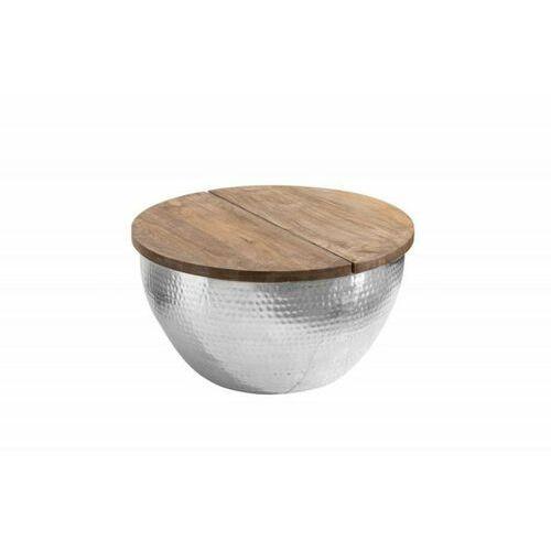 INVICTA stolik kawowy ORIENT STORAGE - 60cm, mango, srebrny, aluminium