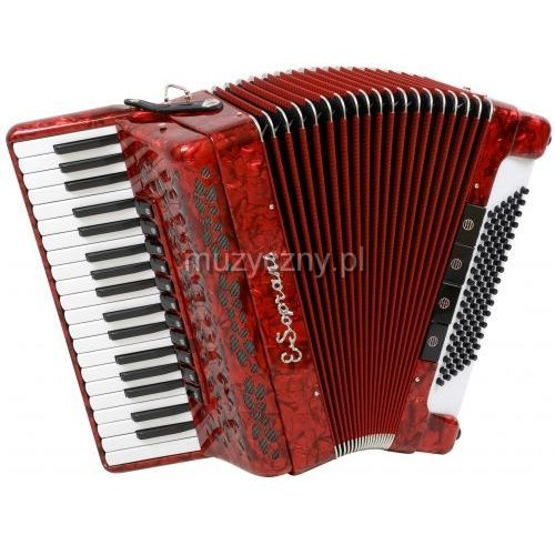 E.Soprani 964 KC 37/4/11 96/4/4 Piccolo akordeon (czerwony)