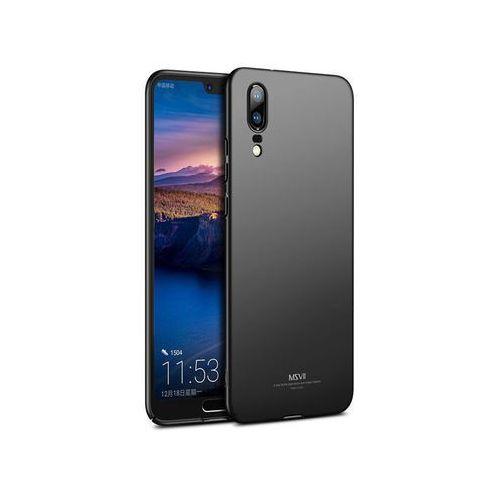 Etui MSVII Thin Case do Huawei P20 czarne + Szkło - Czarny, kolor czarny