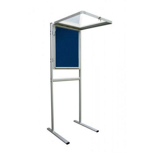 Gablota informacyjna 2x3 model 1 - wewnętrzna na stojaku tekstylna 6xA4(75x70cm)