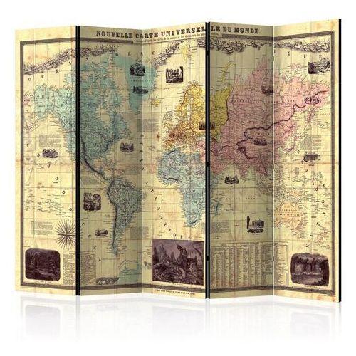 Parawan 5-częściowy - nouvelle carte du monde [room dividers]