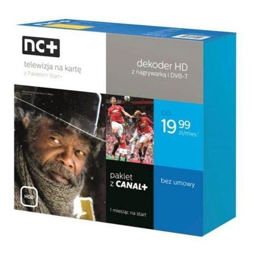 nc+ telewizja na kartę z pakietem Start+ (130 kanałów z Canal+, 1 m-c na start) - dekoder PACE PVR (5901549321906)