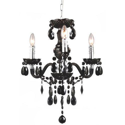 Italux Lampa wisząca whiz l.90690/3bl świecznikowa z kryształami zwis oprawa 3x60w e14 czarna