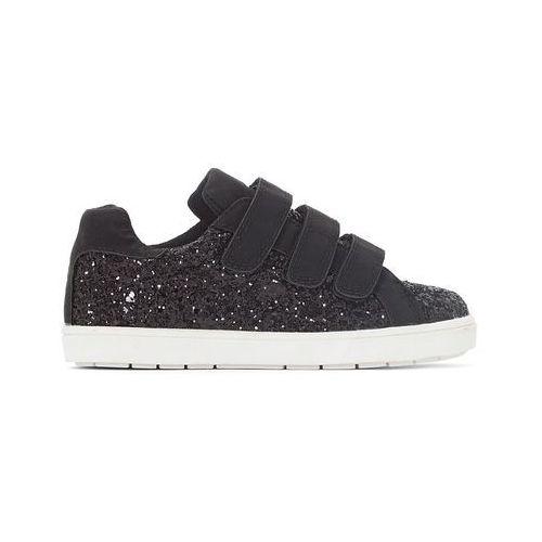 Buty sportowe zapinane na rzep, ozdobione cekinkami 26-36, kolor czarny