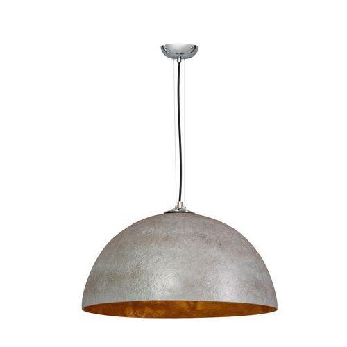 Lampa wisząca loft 50cm mezzo tondo szara złota marki Eth