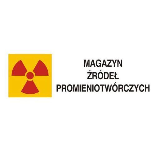 Znak ostrzegawczy do oznakowania magazynu źródeł promieniotwórczych marki Top design