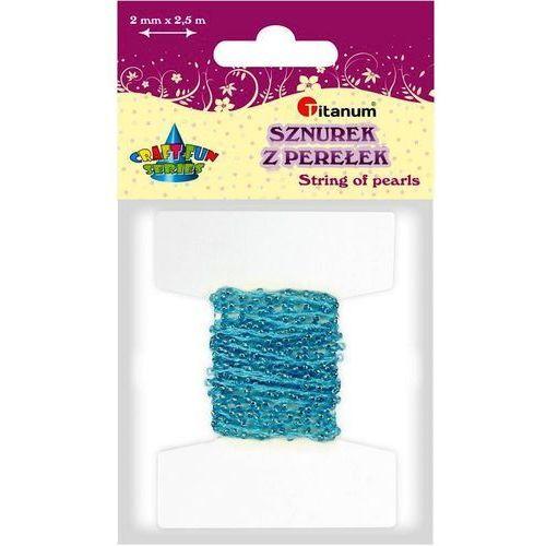 Titanum Perełki na sznurku 2mm 2,5m niebieskie craft-fun - niebieski