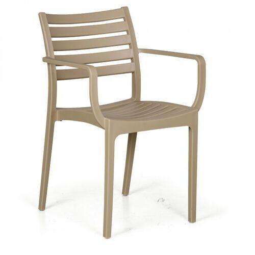 Krzesło ogrodowe SLENDER, beżowy, 3+1 GRATIS