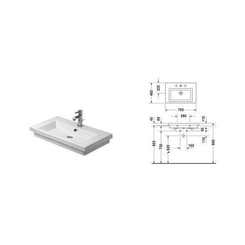 Duravit 2nd floor 70 x 46 (0491700027)