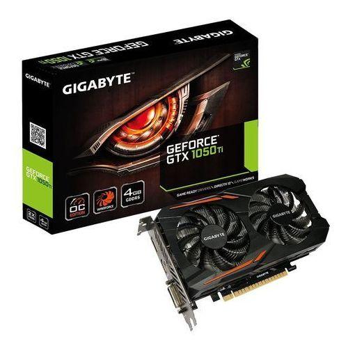 Gigabyte GeForce CUDA GTX 1050 Ti OC 4GB GDDR5 128BIT DVI-D/HDMI/DP DARMOWA DOSTAWA DO 400 SALONÓW !!, GV-N105TOC-4GD