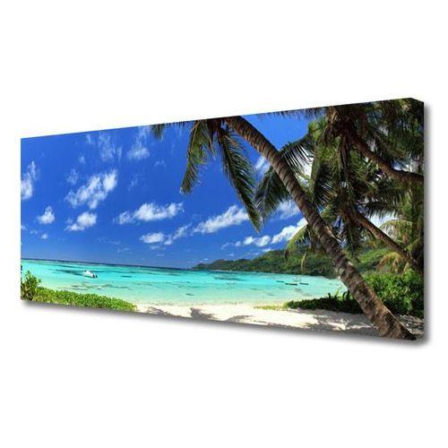 Tulup.pl Obraz na płótnie palma drzewo morze krajobraz