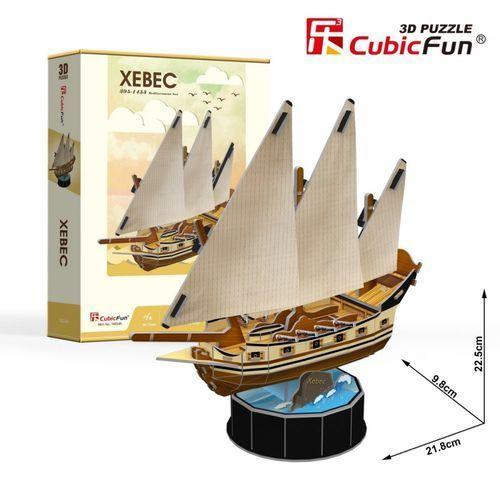 Puzzle 3d żaglowiec xebec 53 elementy marki Cubicfun