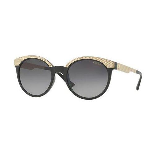 Okulary słoneczne ve4330 metal mesh polarized gb1/t3 marki Versace