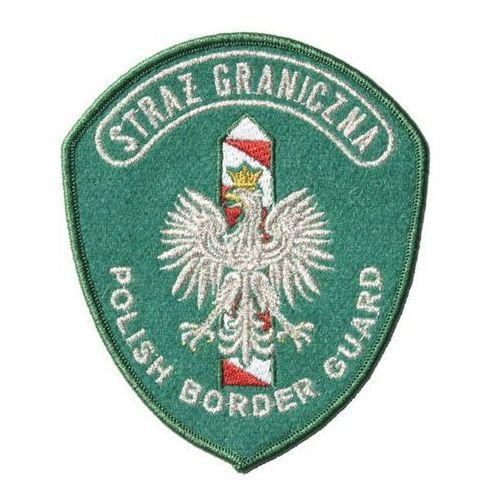 """Emblemat naramienny straży granicznej """"polish border guard"""" - wyjściowy zielony marki Sortmund"""