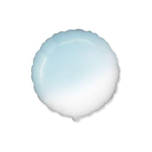 Flexmetal balloons Balon foliowy okrągły ombre błękitny - 48 cm - 1 szt. (8435102305685)
