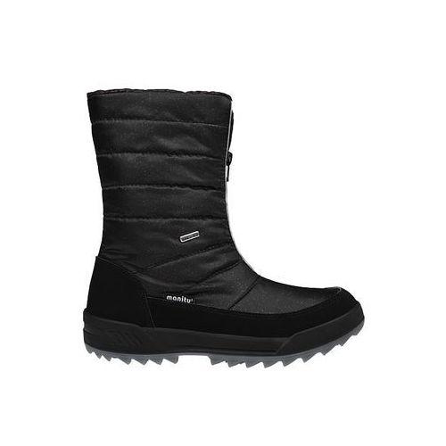 Śniegowce 991177-1 czarne polar-tex damskie, Manitu