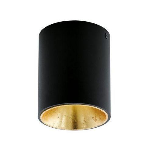 Plafon Eglo Polasso 94502 lampa oprawa sufitowa spot 1x 3,3W czarny/złoty LED >>> RABATUJEMY do 20% KAŻDE zamówienie!!!, 94502