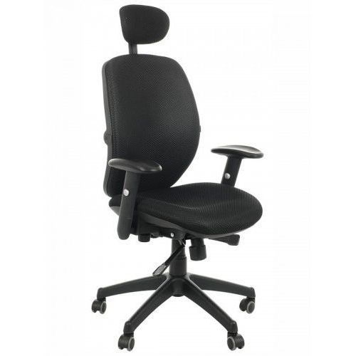 Fotel biurowy obrotowy KB-912/a/CZARNY - krzesło obrotowe biurowe, KB-912A/CZARNY
