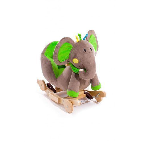 Kinderkraft Grający słoń na biegunach zielony - (5906736052045)