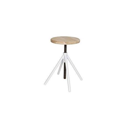 stołek industrialny lily biały - woood 375736-w marki Woood