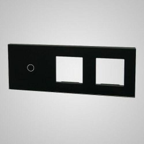 TouchMe Duży panel szklany, 1 x łącznik pojedynczy, 2 x ramka, czarny TM701728728B, kolor czarny