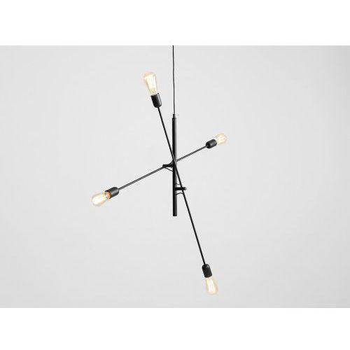 Lampa sufitowa w stylu industrialnym Customform TWIGO 4 - kolor czarny (5010000014599)