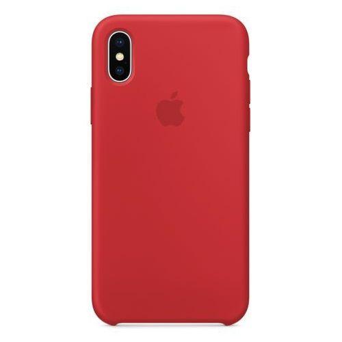 Apple Silicone Case iPhone X MQT52ZM/A (czerwony), MQT52ZM/A