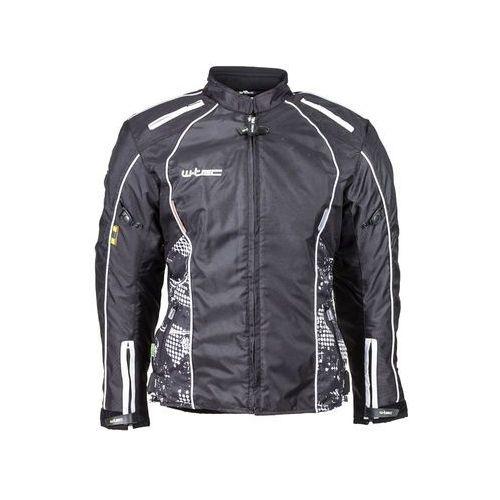 Damska kurtka motocyklowa wodoodporna W-TEC NF-2406, Czarno-białe grafiki, XXL, kolor czarny