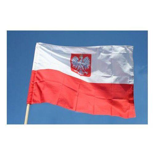 Polska Flaga Narodowa z godłem